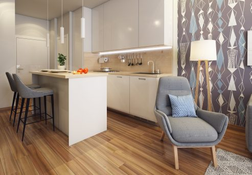 Kitchen Area of One Bedroom Suite