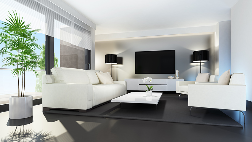 Inside a penthouse